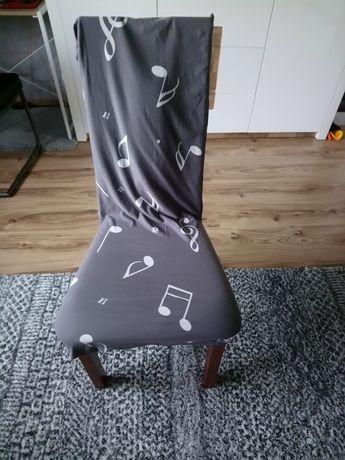 Zestaw 4 krzeseł drewnianych