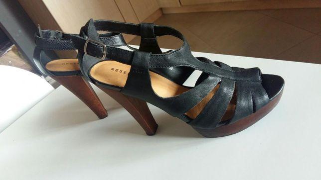 Reserved piękne nowe sandały skóra r. 39
