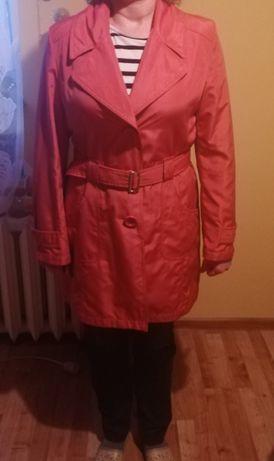 Płaszcz wiosenny różowy łososiowy XL 42