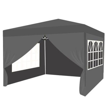 Pawilon Namiot Ogrodowy Handlowy  Szary  Ekspres--Składany 3x3  Mocny