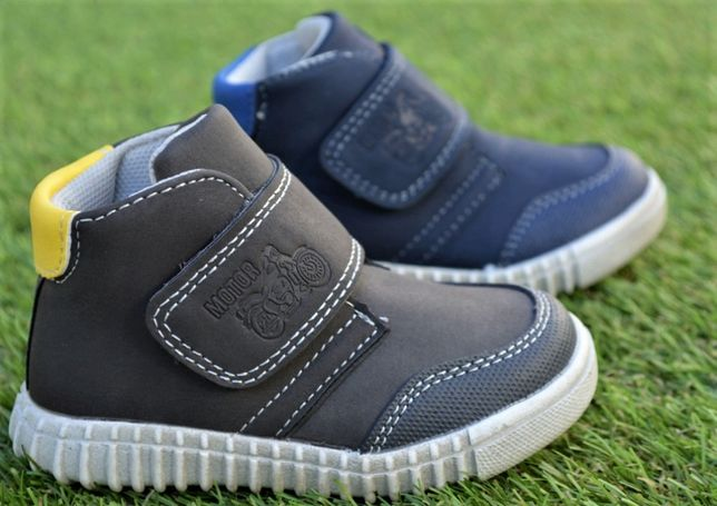 Детские ботинки сапоги для мальчика темно синие коричневые р21-26