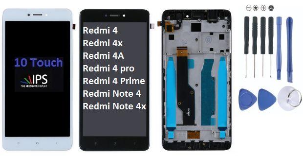 Дисплейный модуль с рамкой Xiaomi Redmi Note 4, 4X, 4A , 4 Pro/4 Prime