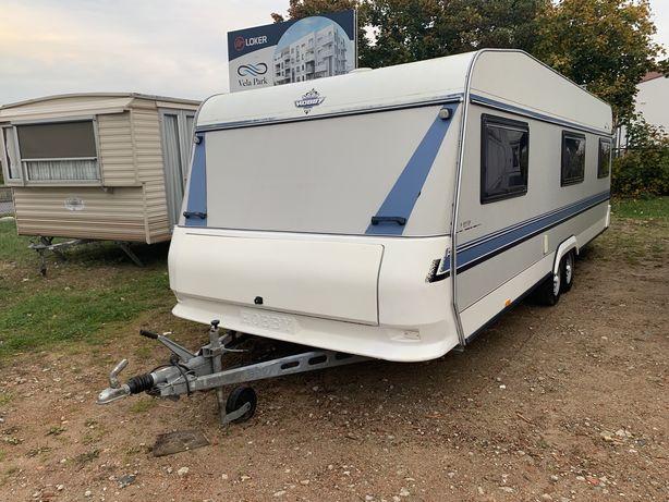 Przyczepa kempingowa hobby prestige 720cmdl 245cmszer + namiot