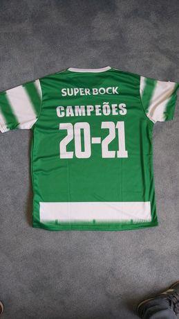 Camisola T-Shirt Sporting Campeões 2020/2021 entrega imediata