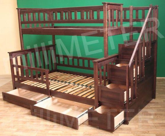 кровать двухъярусная Жасмин 2, кровати двухъярусные, двухярусная крова