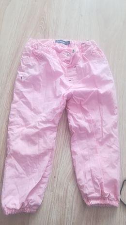 spodnie różowe 92 2/3latka wiosna