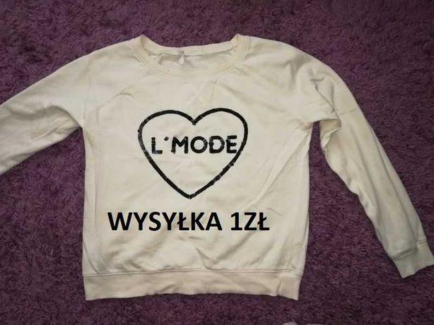 Bluza damska ecru kremowa bluzka sweter Mango r.S/M