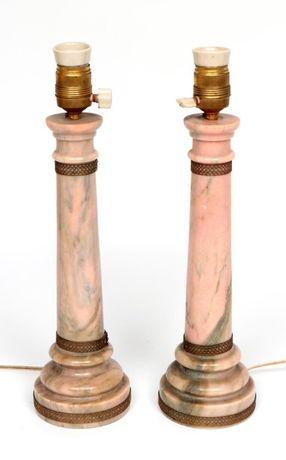 Par de candeeiros de mesa antigos