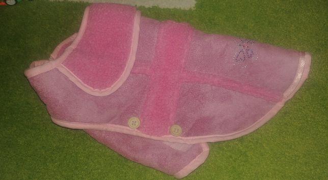 Ubranko dla pieska różowy korzuszek futerko futro