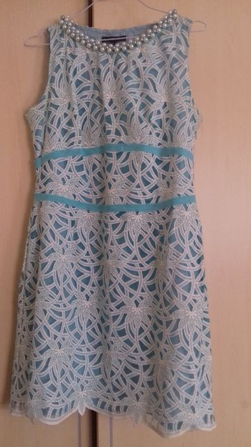 Vestido Dandara azul e branco M