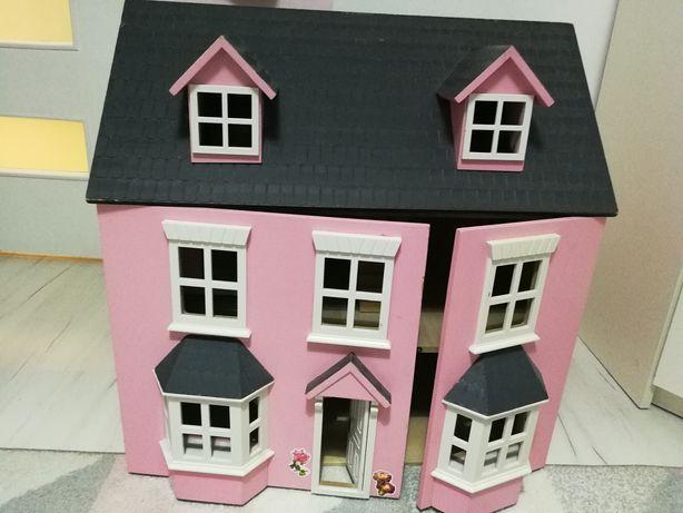 Domek dla lalek, duży, drewniany