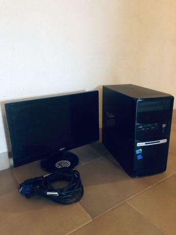 Torre e monitor de pc