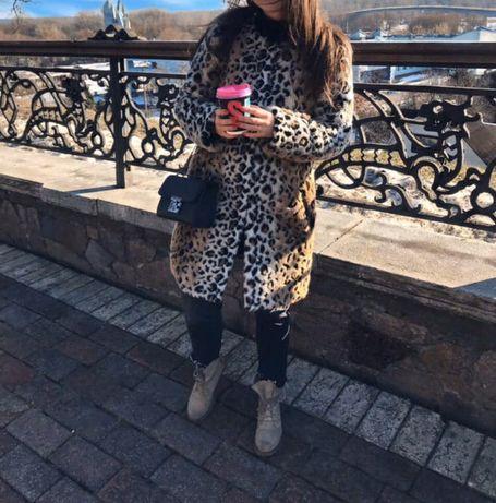 Офигенная эко шуба Zara леопардовая