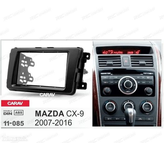 MOLDURA / ADAPTADOR PRETA PARA RADIO 2-DIN MAZDA CX-9 07-16