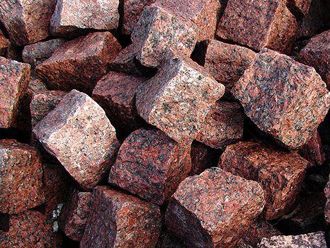 GRANIT VANGA - Czerwona Kostka Granitowa Brukowa Kamień 6x4 7x9 10x10