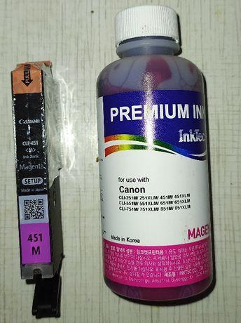 Картриджи Canon (ОРИГИНАЛ) PGI-451 Magenta красный+чернила
