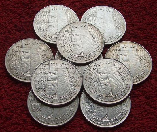 POLSKA 10 zł KAZIMIERZ WIELKI Wklęsły 1964 Rok Kolekcjonerskie Monety