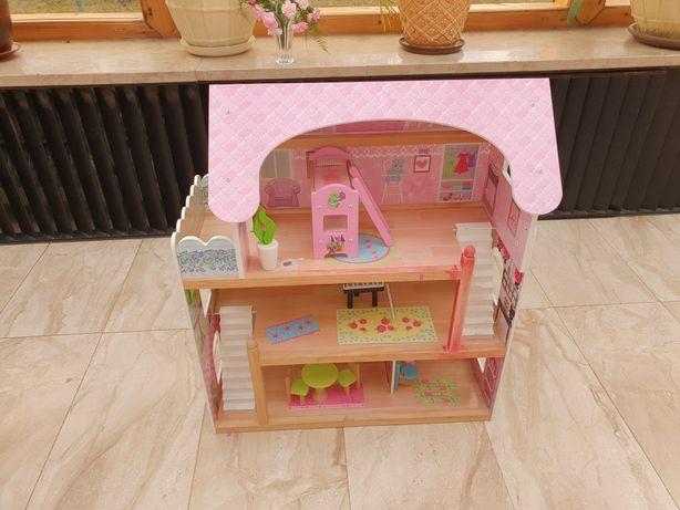 Drewniany domek dla lalek okazja