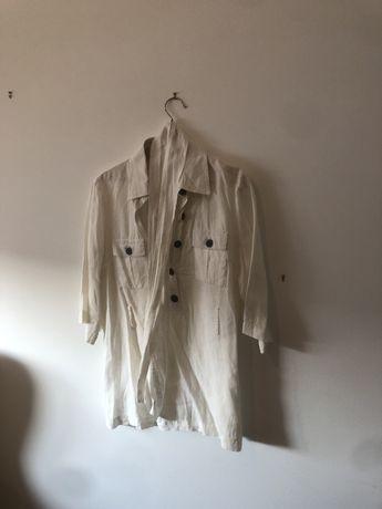 Camisa de linho com cinto