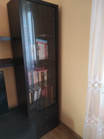 Regał/witryna, półki na ścianę Black Red White, kolor wenge