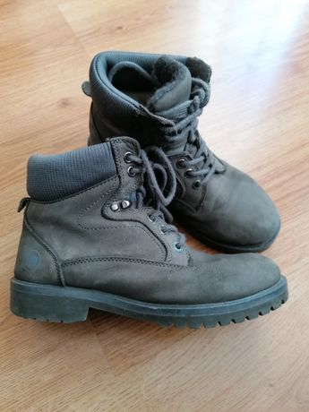 HD heavy druty trapery zimowe kozaki buty skórzane 37