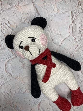 Вязаная Панда мишка