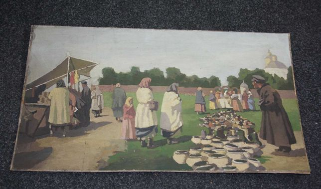 Картина маслом  базар