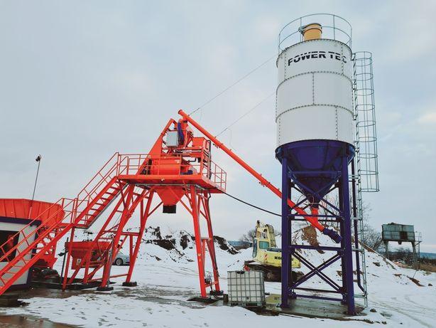 Węzeł betoniarski betoniarnia mieszarka 1,0m3 zbior kruszywo 40m3/h