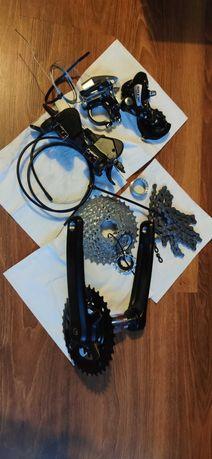 Pełen napęd rowerowy Shimano Altus 2x8 MTB NOWY!!! korba, przerzutka,
