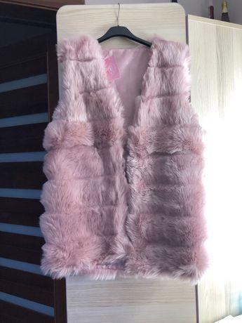Kamizelka futrzana różowa