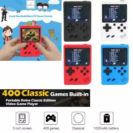 Gameboy retro consola ultra leve 400 jogos todos originais