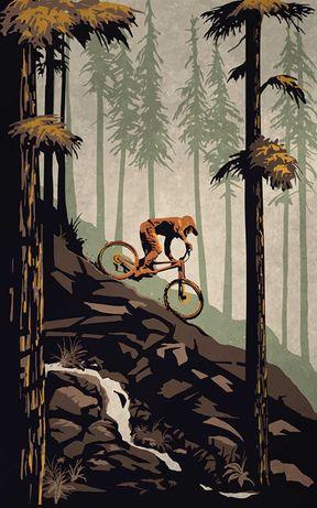 Obraz na płótnie 80x50cm Enduro/Downhill/Freeride/MTB rower