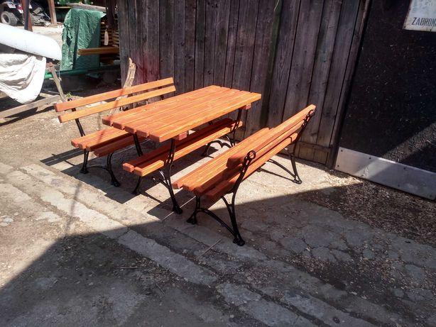 Komplet ogrodowy stół z ławkami