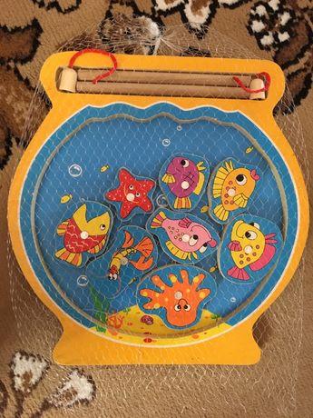 Деревянная игрушка рыбалка Аквариум