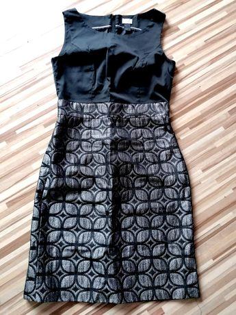 Sukienka srebrno - czarna.