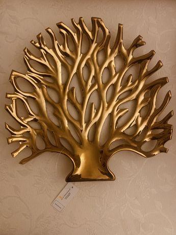 Nowa złota patera w kształcie drzewa