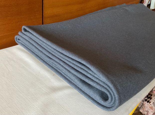 Новая Ткань отрез шинельная шерсть сукно серого цвета 2,80 х 1,42