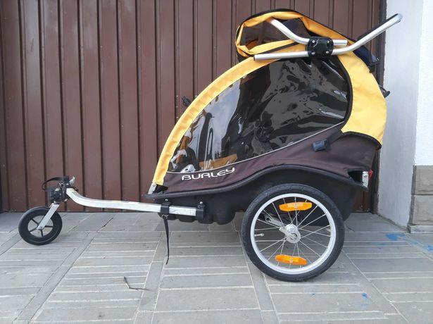 Lekka przyczepka rowerowa Burley Cub + kolko spacerowe jak NOWA