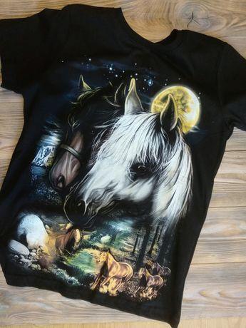 Koszulka świecąca, koń 140-xxl