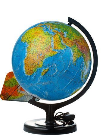Глобус ІПТ Фізично-політичний (подвійна карта) з підсвічуванням 32 см