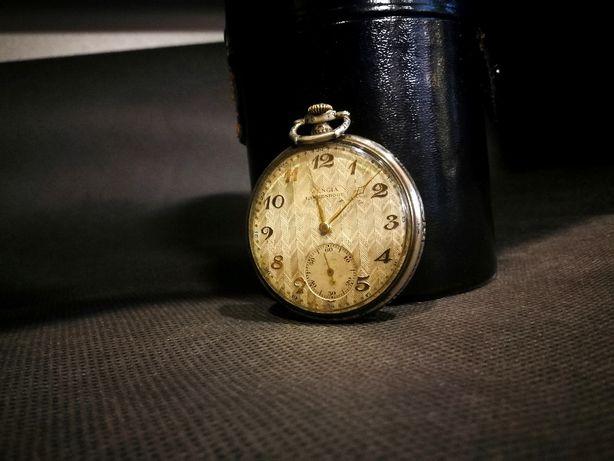 Zegarek, L.W.C,Wengia Langendorf koperta srebro 800! ART DECO