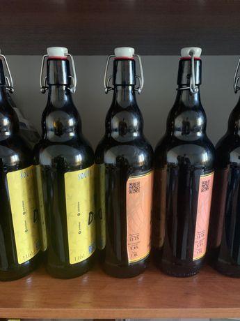 Продам - Бугельная бутылка 1 литр ( коричневая)