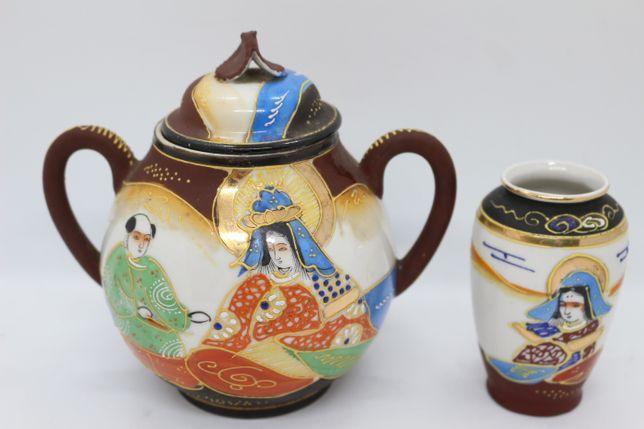 Açucareiro Porcelana Japonesa Satsuma Período Meiji