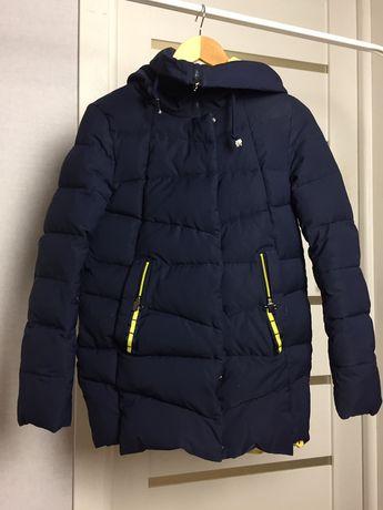 Тёплый детский зимний стеганый пуховик куртка на подростка 13-16 лет