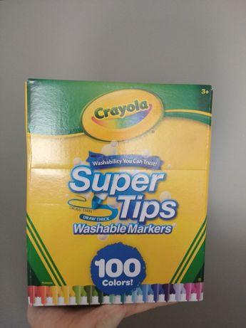 Смываемые Фломастеры маркеры Crayola Super Tips Washable 100шт