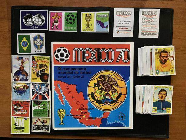 Caderneta Panini World Cup Mexico 70 + set completo de cromos