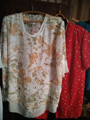 Продам блузки большого размера