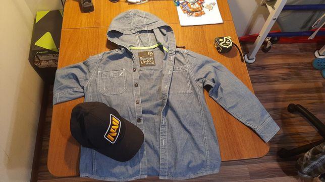 Рубашка джинс  Next с капюшоном