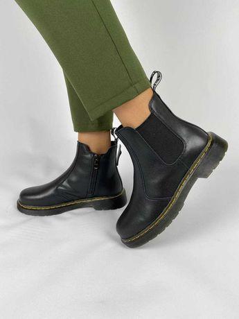 Женские ботинки демисезонные натуральная кожа dr martens chelsea
