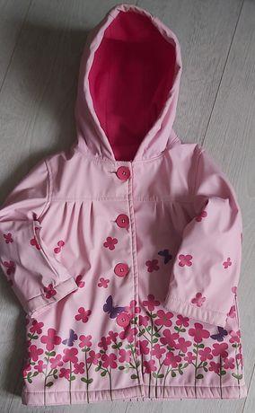 Płaszcz kurtka przeciwdeszczowa jesień dziewcznka r 86